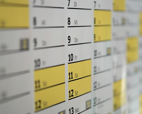 Veränderte Kurszeiten in KW 25